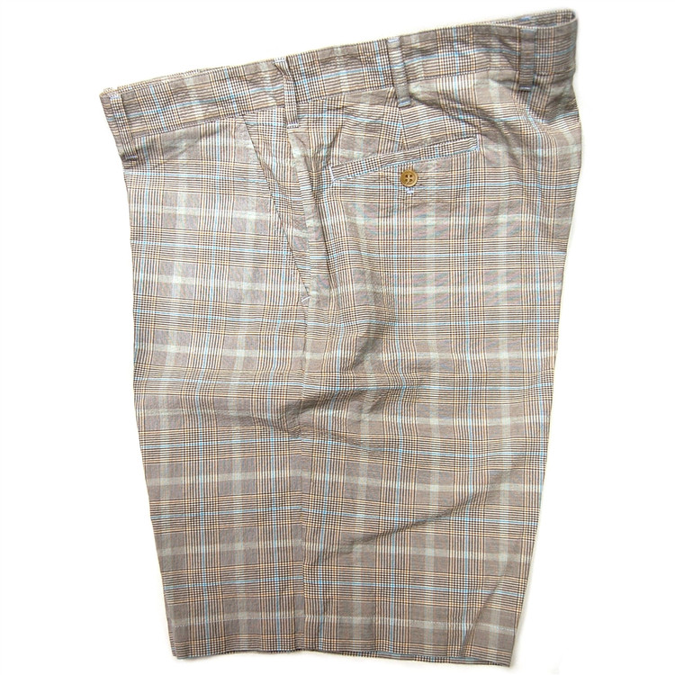 Summer Glen Parker Short in Khaki and Blue (Size 34) by Bills Khakis