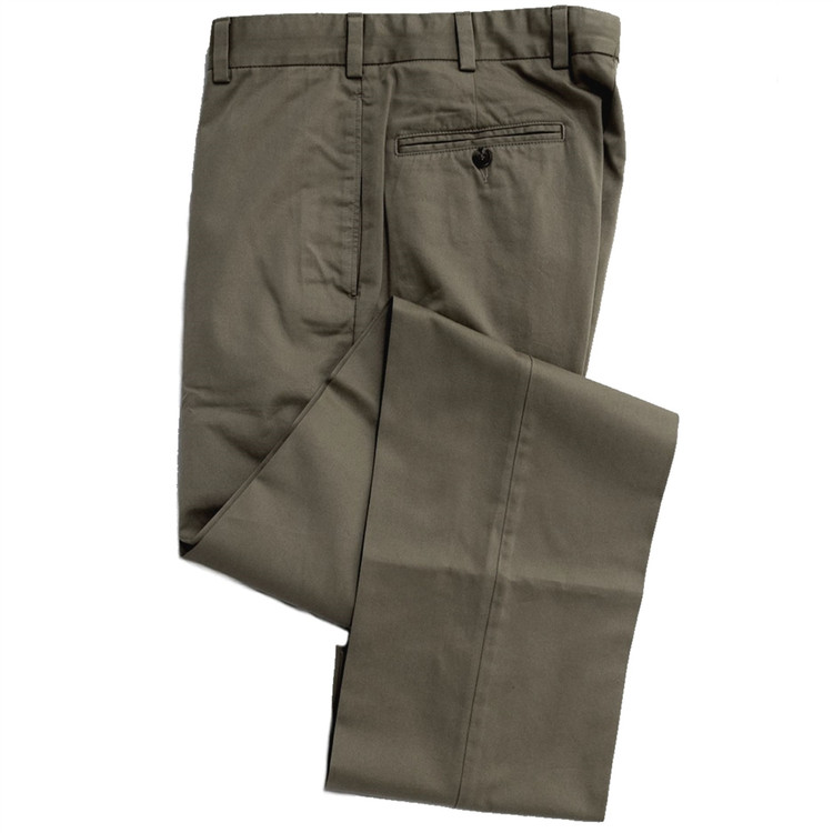 Vintage Twill Pant - Model F2 Standard Fit Plain Front in Sage (Sizes 33 and 42 Only) by Hansen's Khakis