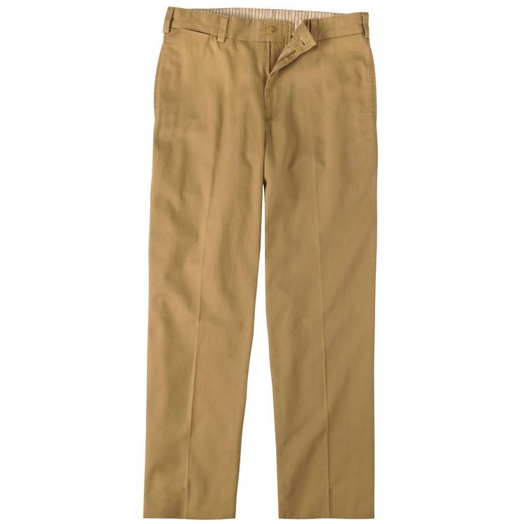 Vintage Twill Pant - Model M2 Standard Fit Plain Front in British Khaki by Bills Khakis