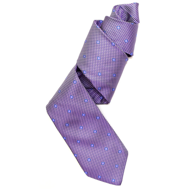 Best of Class Lavender and Pink 'Venture' Woven Silk Tie by Robert Talbott