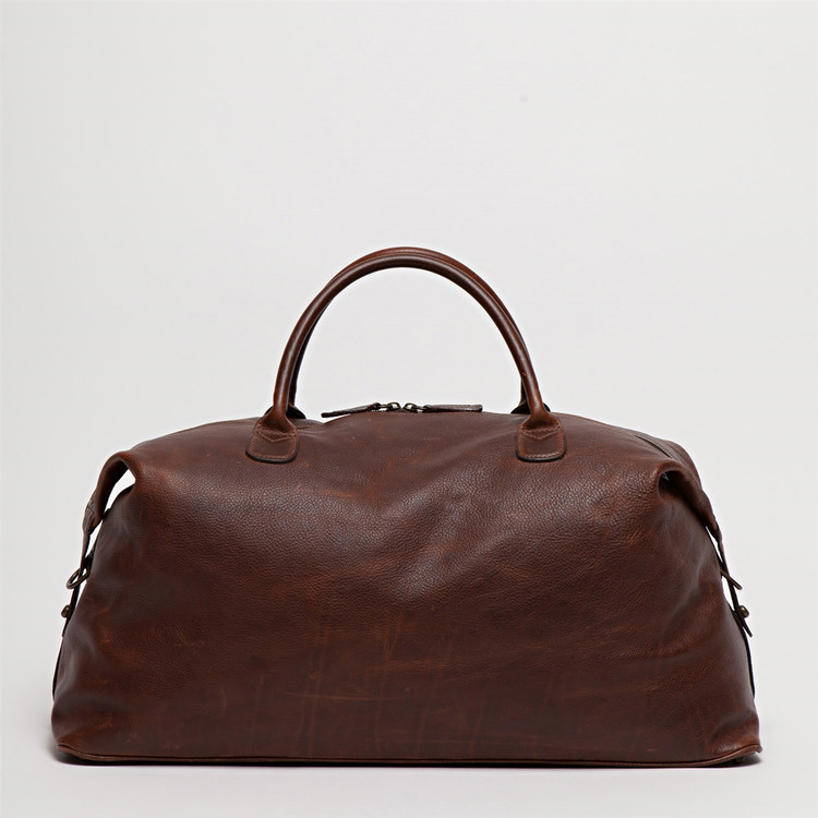 Benedict Weekend Bag in Titan Milled Brown by Moore & Giles