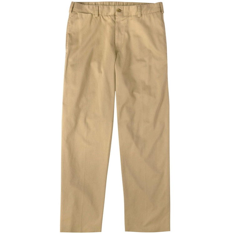 Chamois Cloth Pant - Model M2 Standard Fit Plain Front in Camel by Bills Khakis