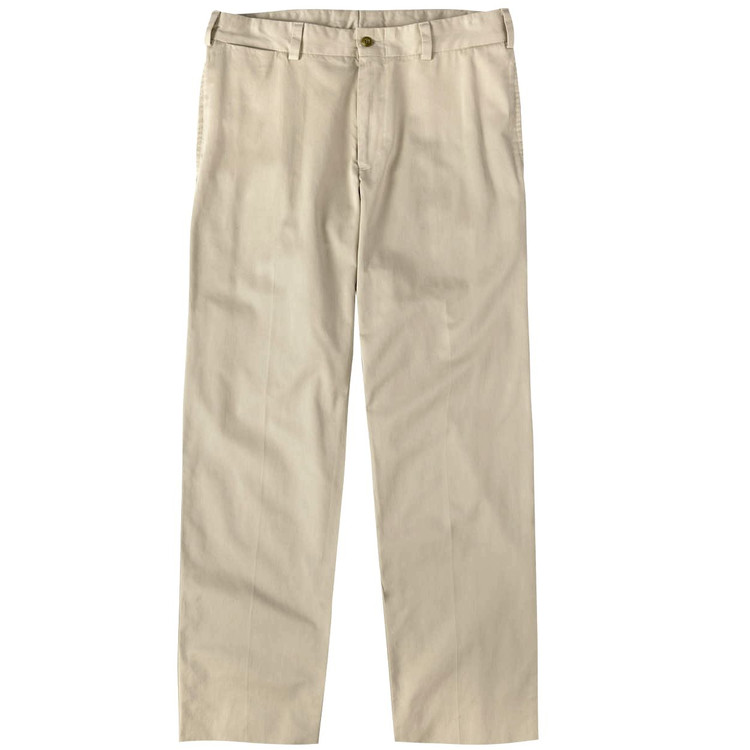 Chamois Cloth Pant - Model M2 Standard Fit Plain Front in Khaki by Bills Khakis
