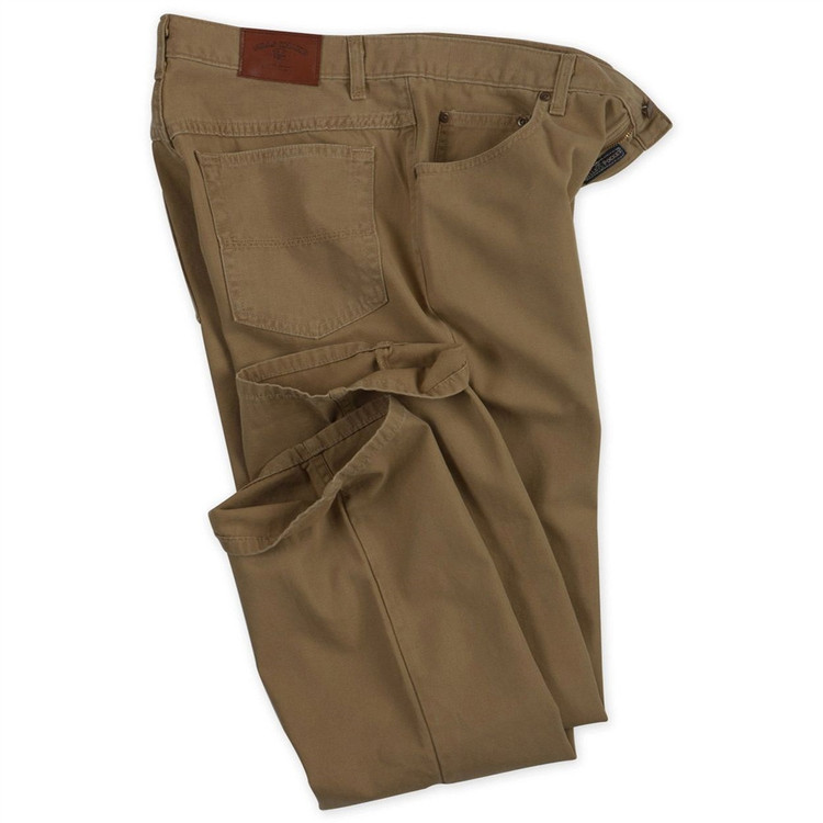 Weathered Canvas Five Pocket Model in Tobacco (Size 30) by Bills Khakis