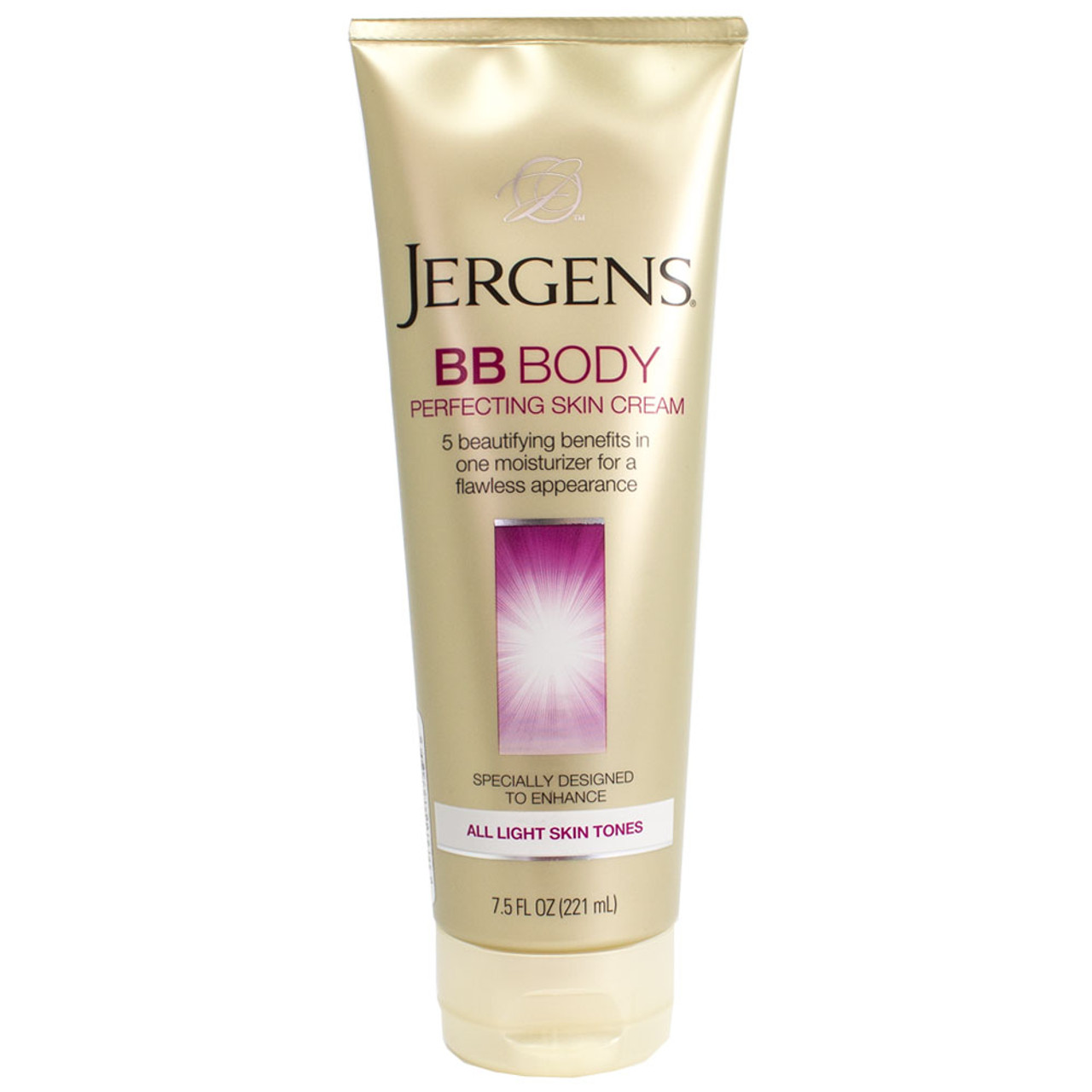 jergens bb body perfecting skin cream for all light skin tones 7 5