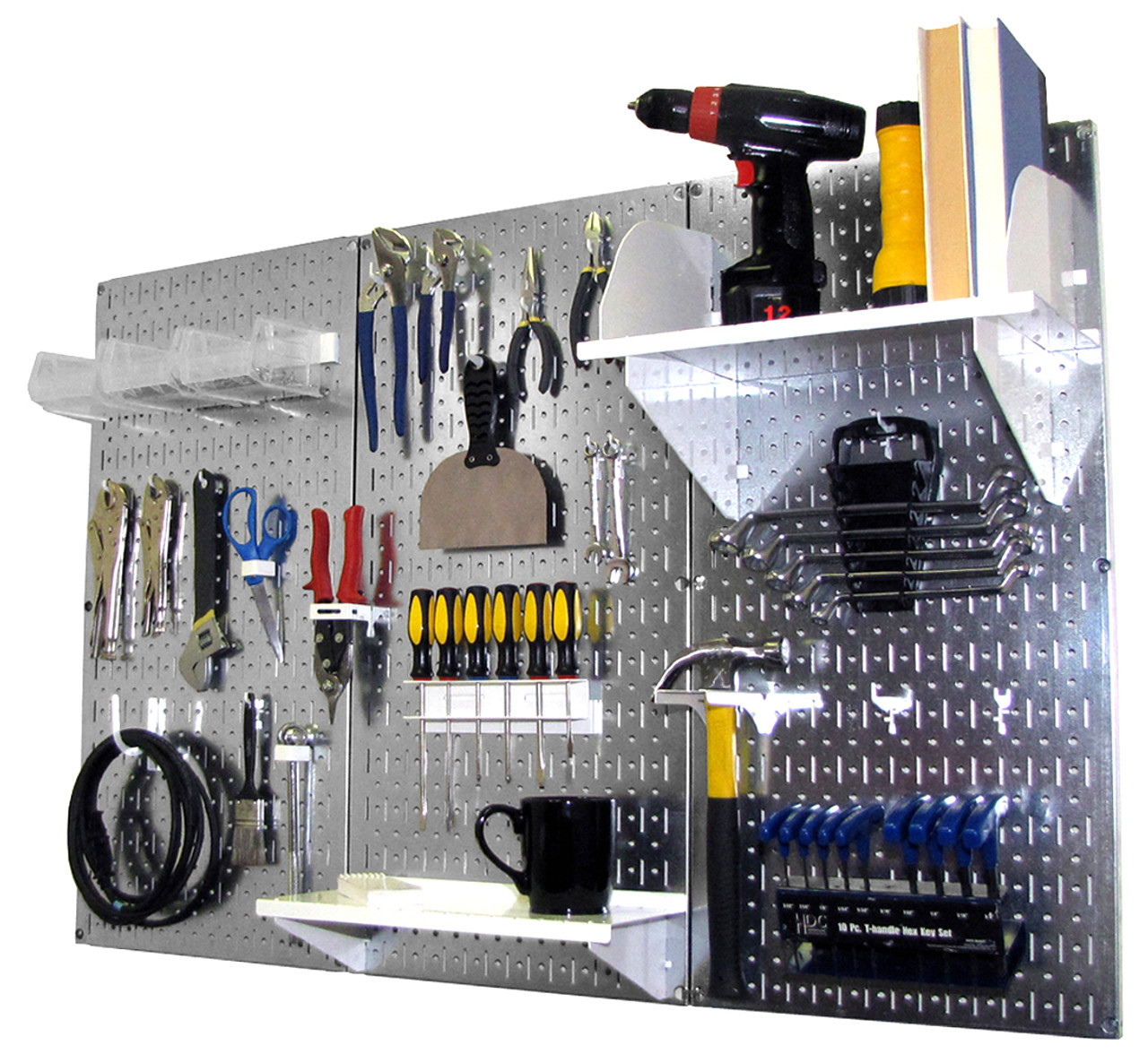 Wall Control Metal Pegboard Makes Great Shadow Board For: Steel Pegboard Workbench Organizer