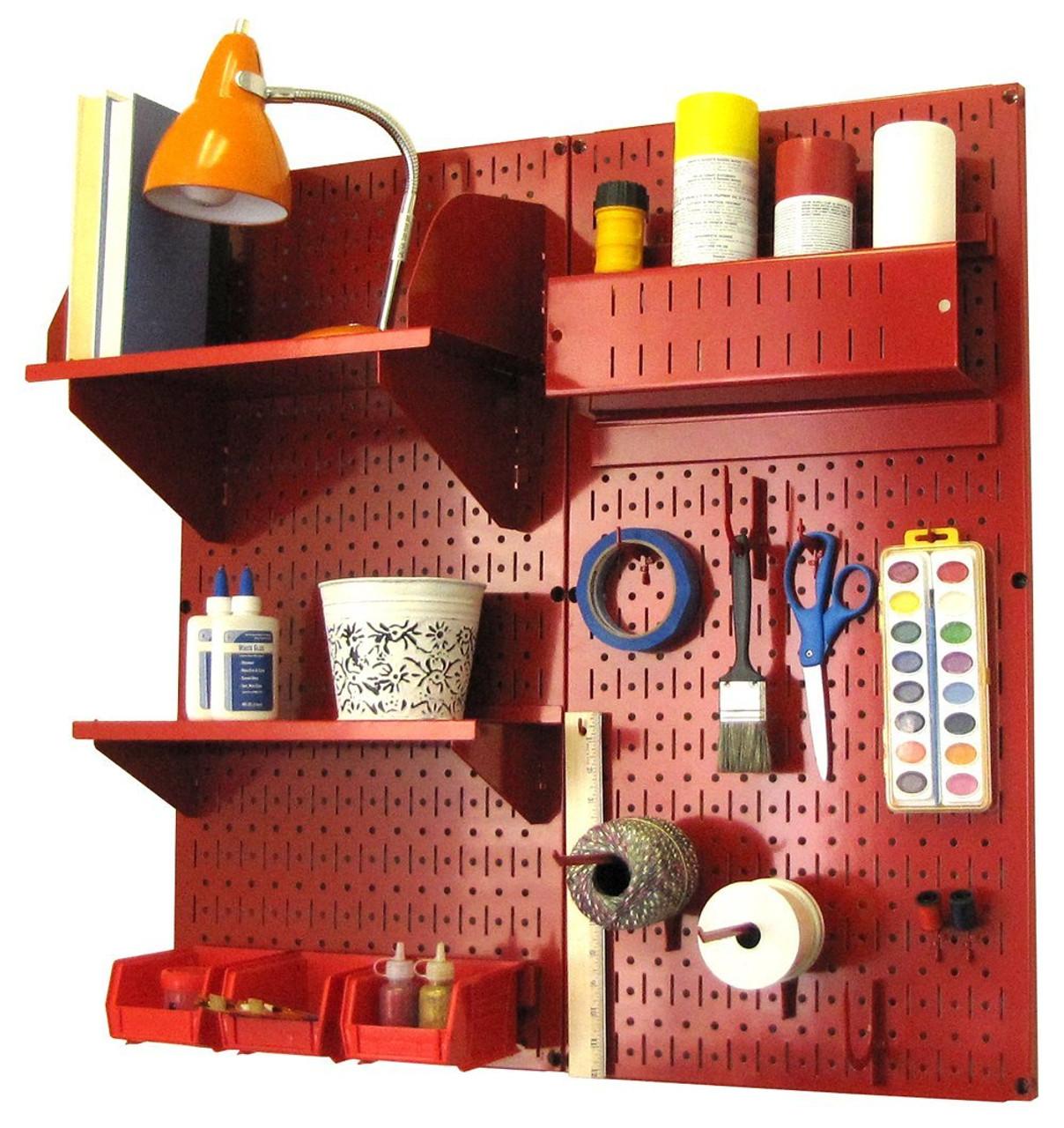 pegboard for crafts  sc 1 st  Wall Control & Chic Craft Peg Board | Modern Pegboard Craft Organizer | 30-CC-200 ...