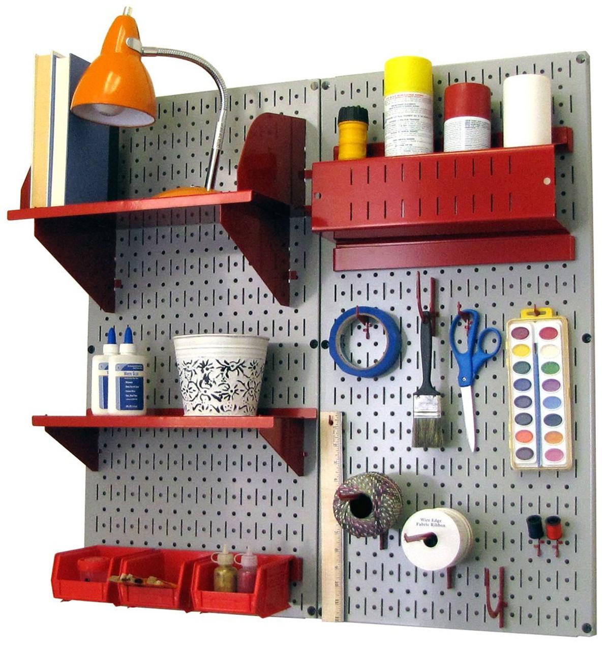 Merveilleux Magnetic Pegboard Craft Organizer