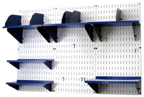 Office Wall Organizer Steel Pegboard White Wall Control