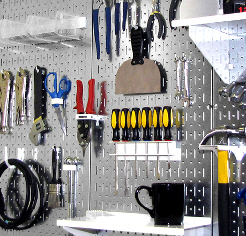 Pegboards Galvanized Steel Peg Board Pack Metallic