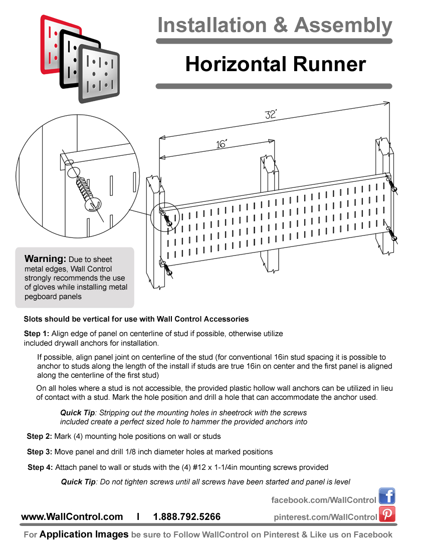 How To Install Horizontal Pegboard