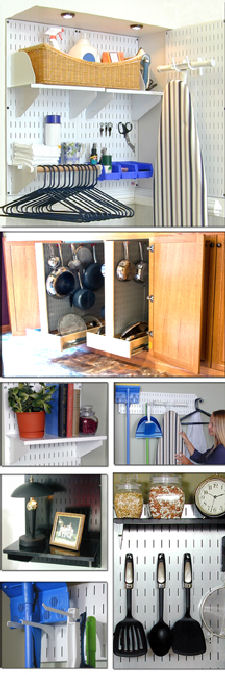 Pegboard Ideas for Kitchen, Laundry Room, Home, Office ...