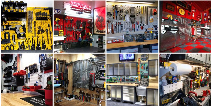 Garage Pegboard Ideas - Wall Control Metal Peg Board Tool Organizers