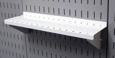 Slotted Pegboard Shelf 4in Wall Control Shelf Asm Sh