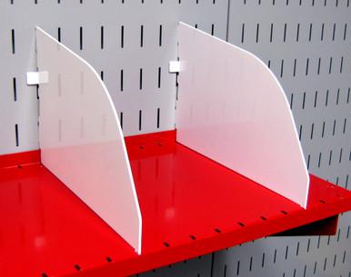 Pegboard Shelf Divider 9in Wall Control Shelf Divider