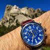 Shinola Runwell Chrono 47mm, Blue Dial, Brown Leather Watch (S0110000047)