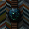 Xeric Trappist-1 Moonphase Blue IP (TMP-3019) lume glow