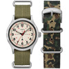 Timex Todd Snyder Military Silver Olive Gift Set (TWG017800)