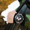 California Watch Co. Mavericks Chrono SS Silver Black (MVK-1131-01B)