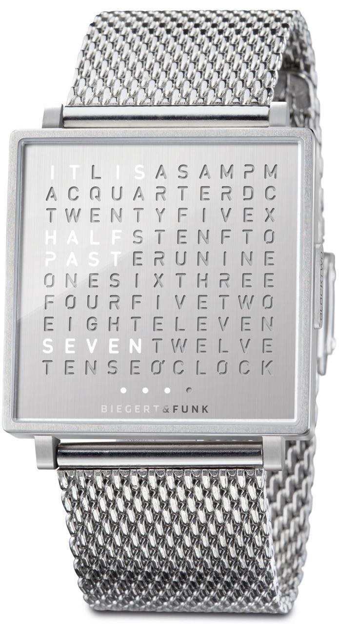 Qlocktwo W Fine Steel Mesh | Watches.com