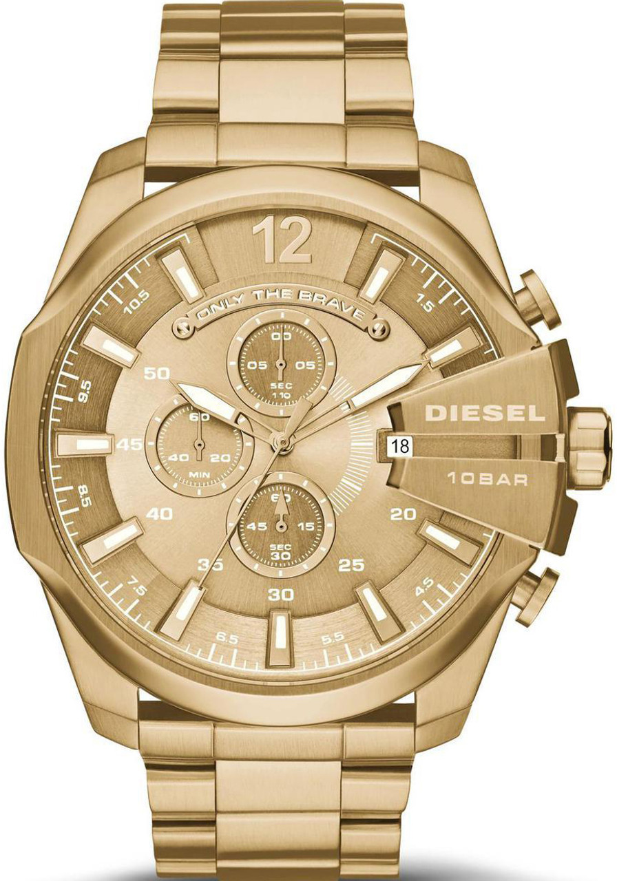 20. Diesel Mega Chief Gold Watch