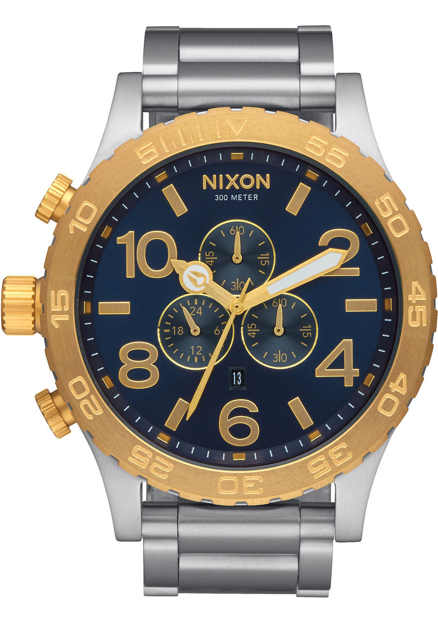 nixon 51 30 chrono goldblue sunray