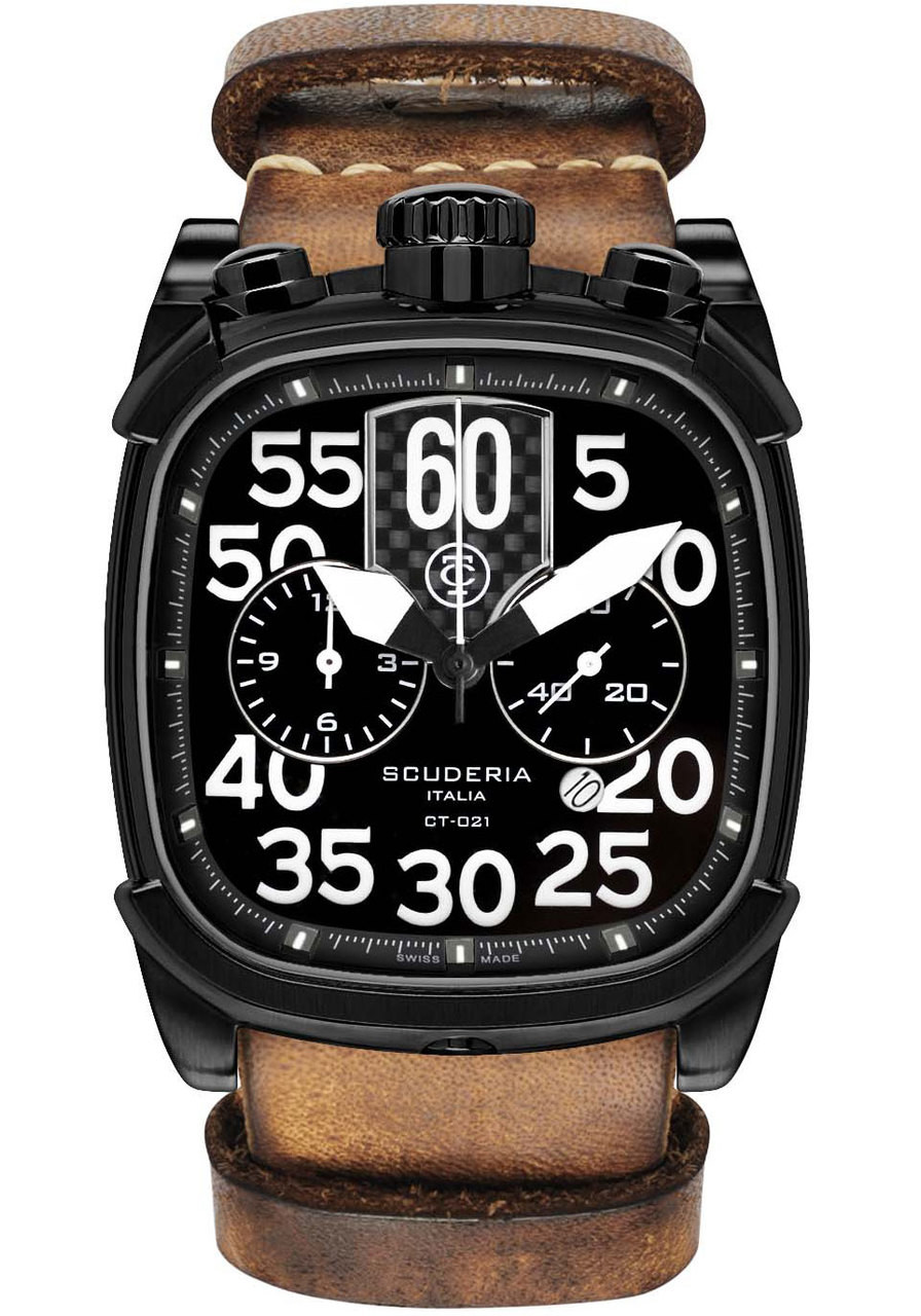 Ct scuderia scrambler black tan nato watch for Black tan watch