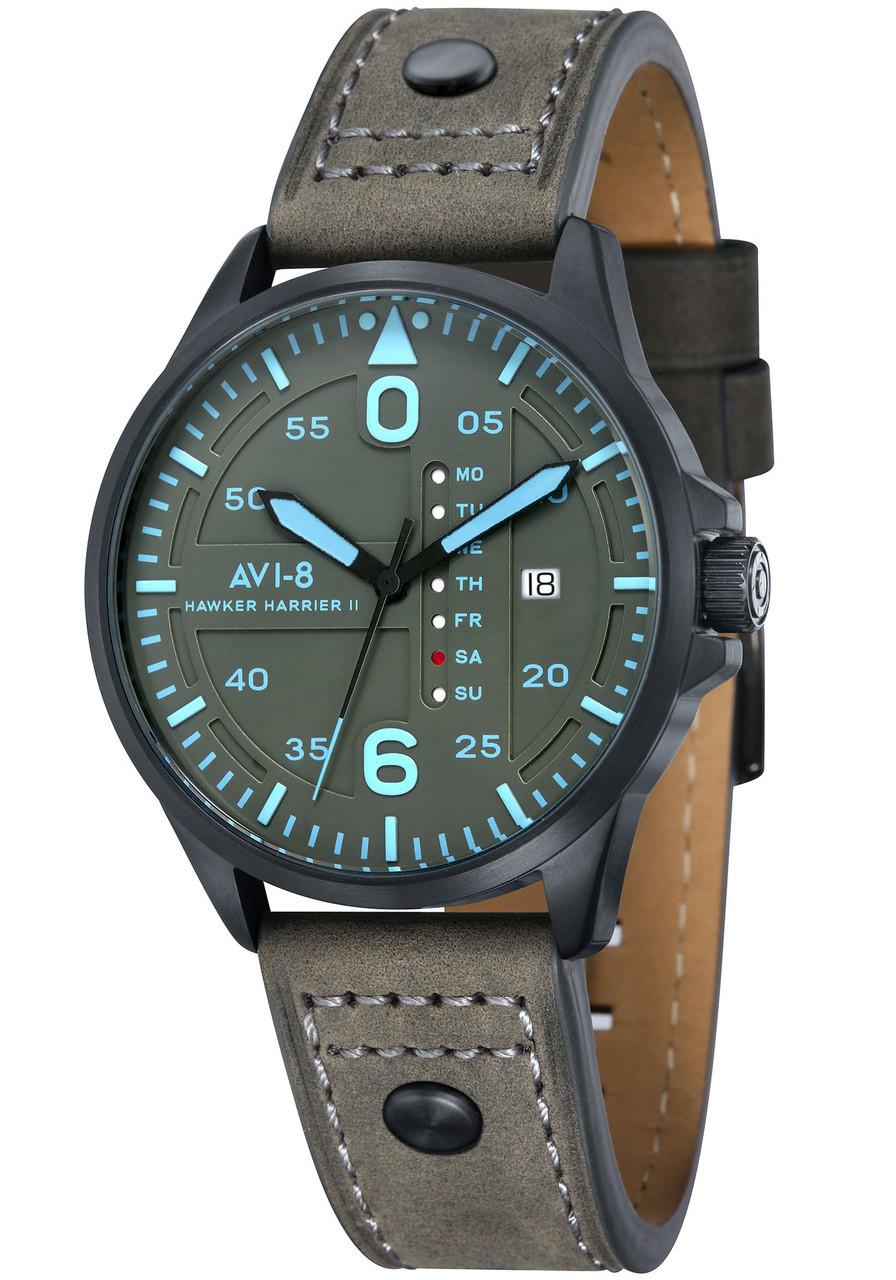 avi 8 hawker harrier ii date black blue watches com
