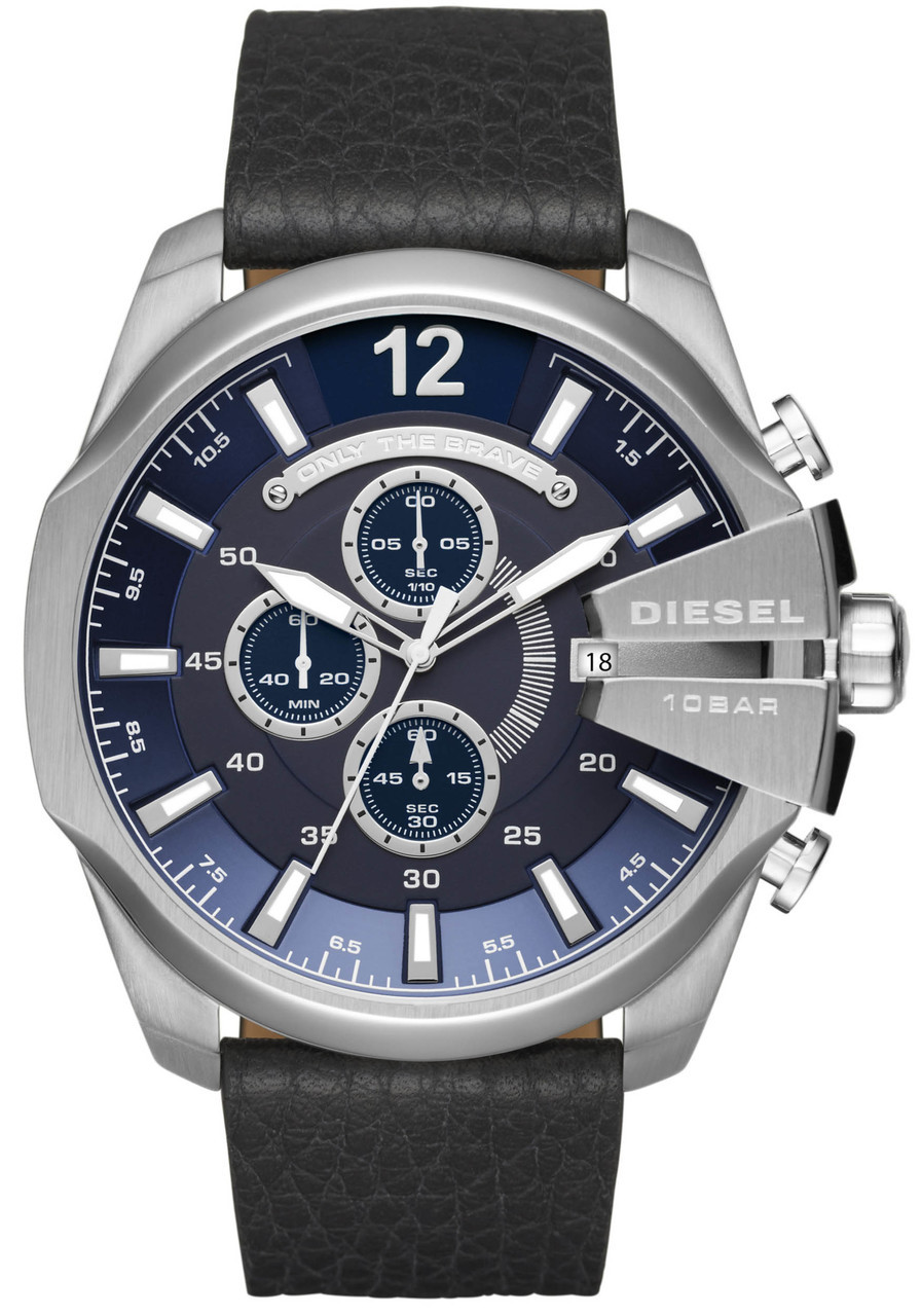 s gunmetal diesel men bracelet watch p chief blue watches mega chronograph dial mens