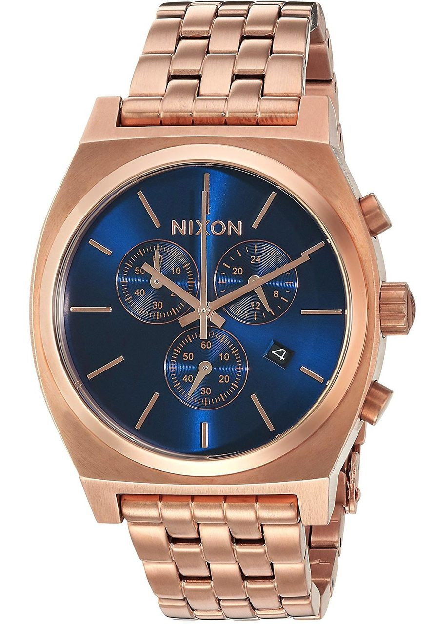 gold ornate teller nur nixon watches the time