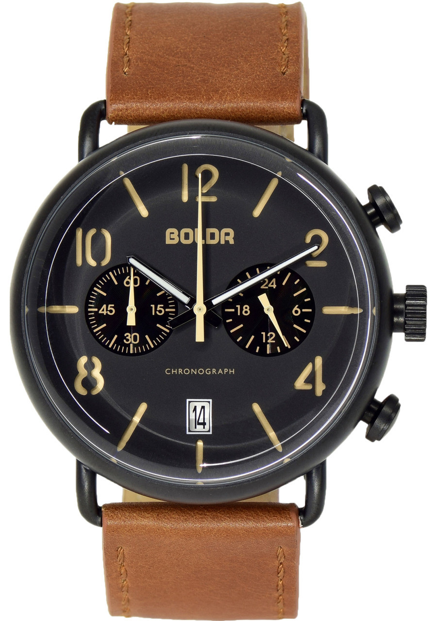 Boldr journey nighthawk black tan for Black tan watch