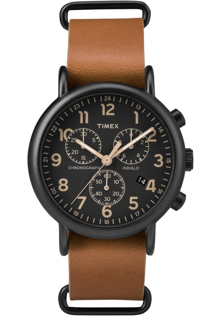 Timex Weekender Chrono Black Tan Watches Com