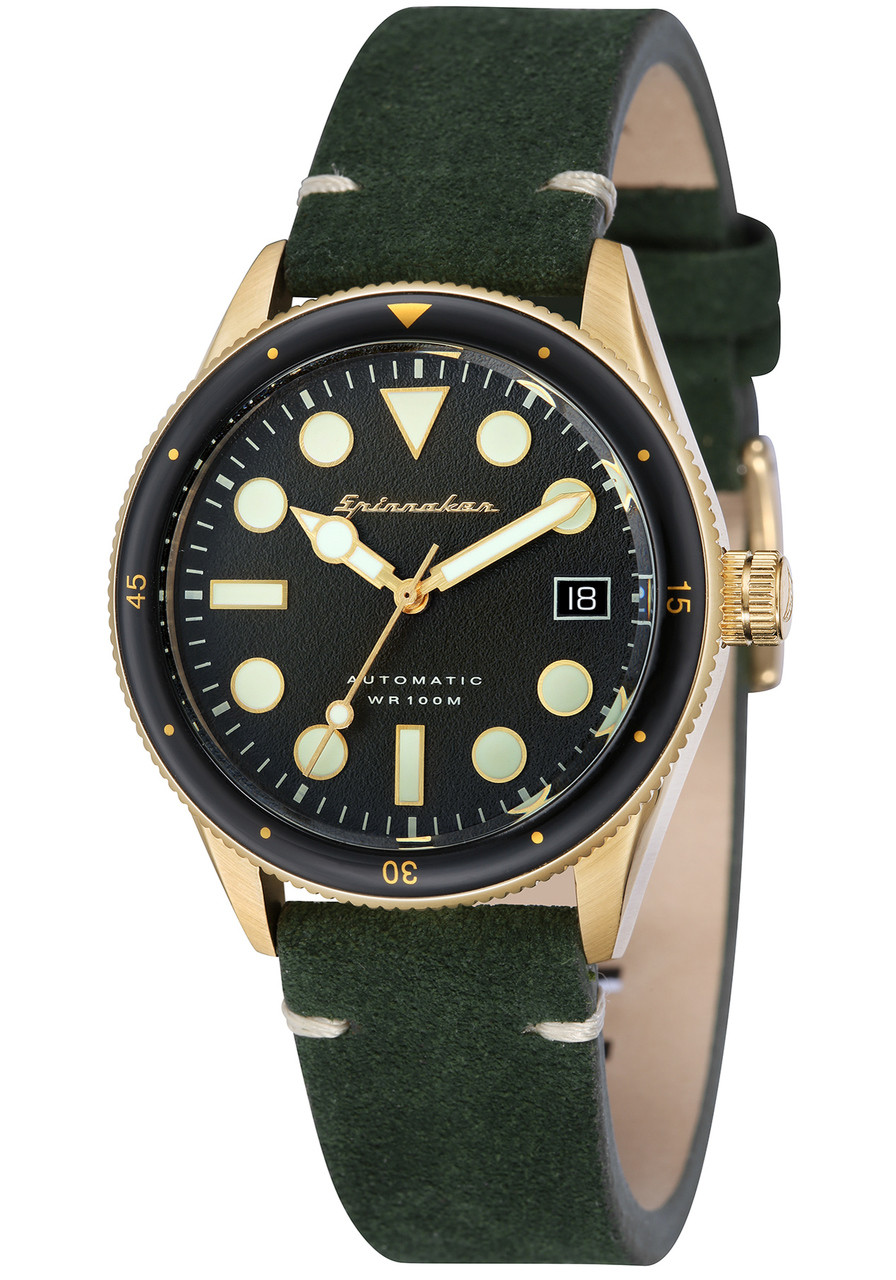 military classic dusk green olive watches saol products black side