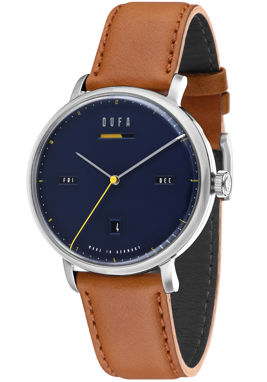 dufa reserve light tan silver brown df aalto power blue com watches automatic