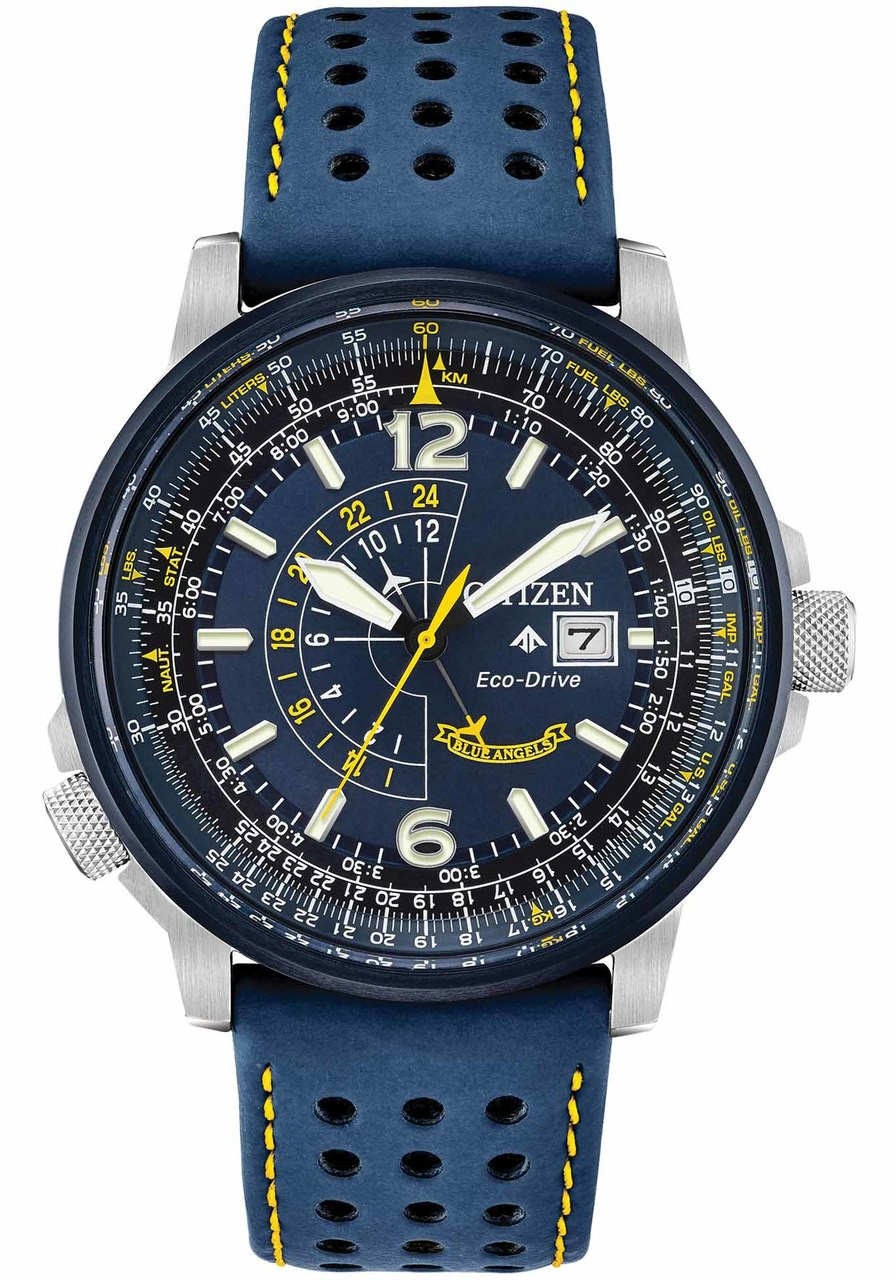 Citizen Eco-Drive Promaster Nighthawk Blue Angels Leather ...