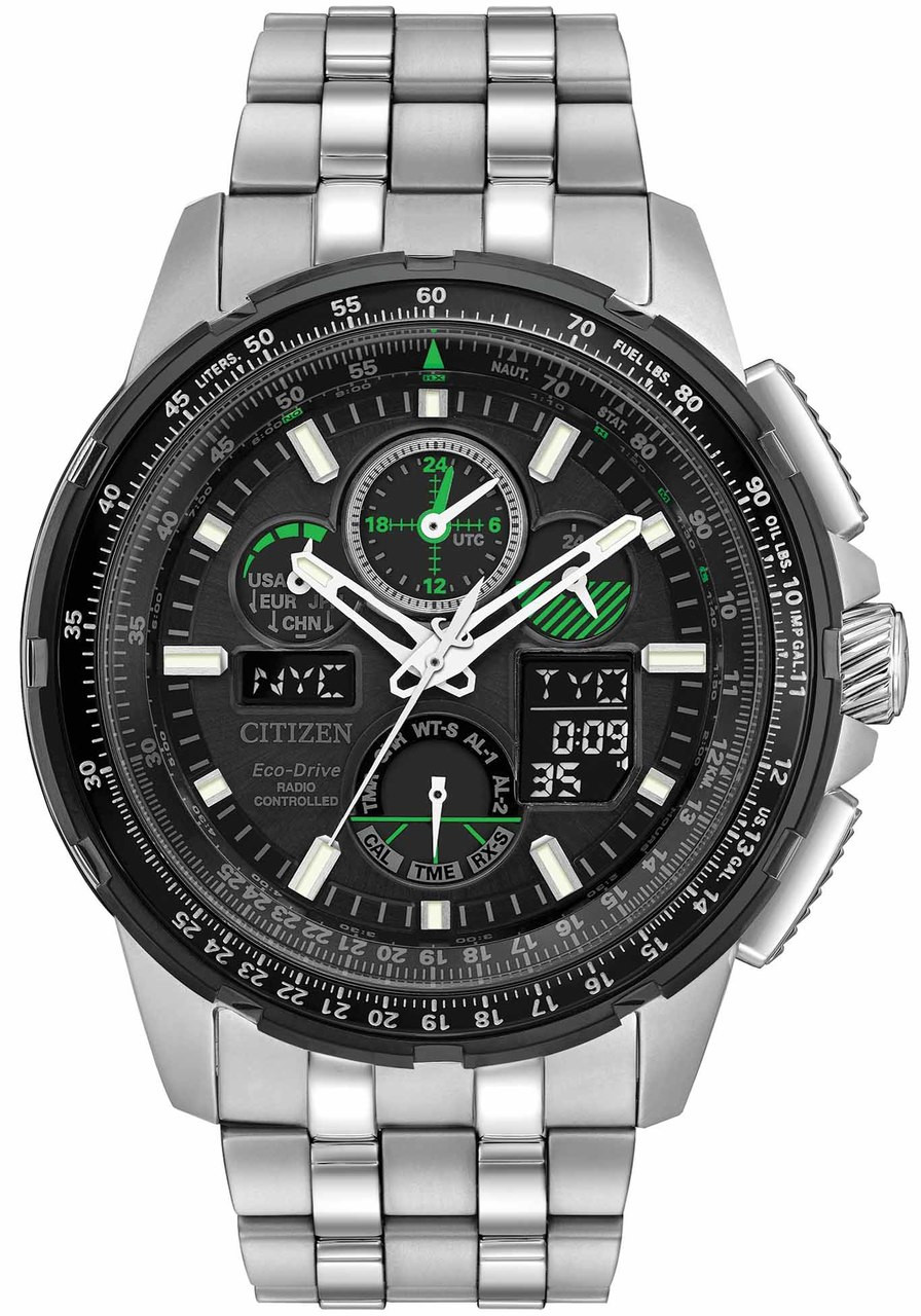 Citizen Eco-Drive Promaster Skyhawk A-T Black Green ...