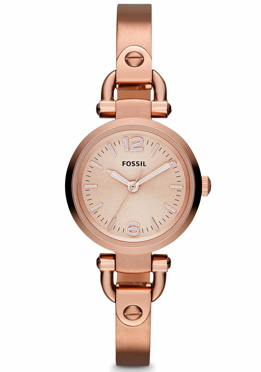 Lyst - Fossil Rose Gold Vintage Muse Leather Watch in Metallic