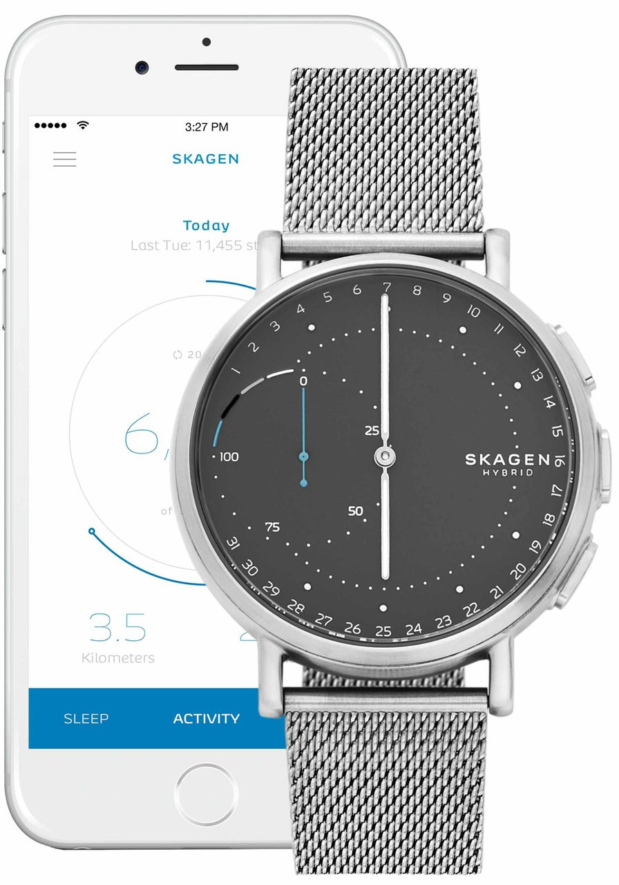 Hybrid Smartwatch Signatur Steel-Mesh