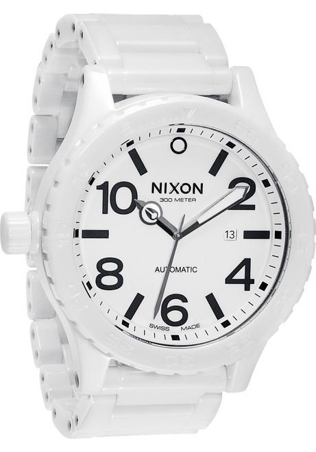Nixon 51-30 White Ceramic Elite Swiss Automatic