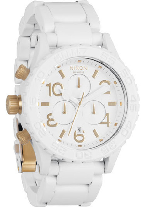 Nixon 42-20 Chrono All White/Gold