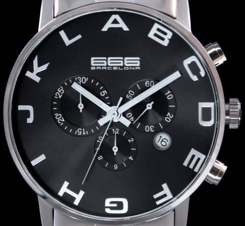 Alphabet Chrono SS Black