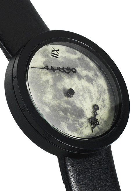 M-Theory Time and Space Zero Gravity Watch -Moonlight Leather