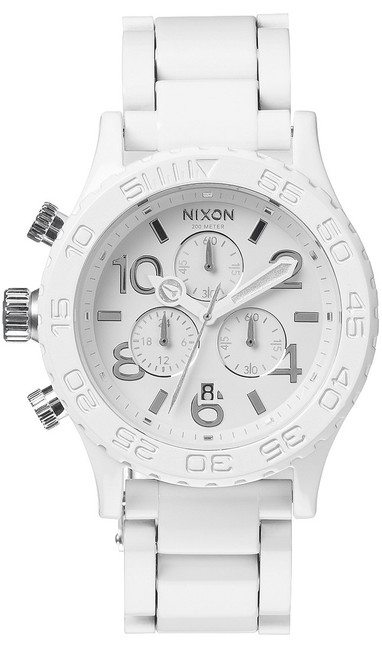 Nixon 42-20 Chrono All White/Silver