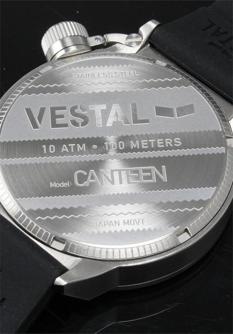 Vestal CTR3S02 Canteen Rubber Black/Steel