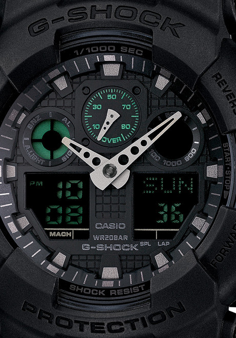 G-Shock Classic X-Large Matte Black Green Digital
