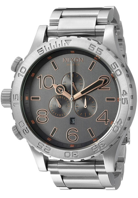 Nixon 51-30 Chrono Gray rose gold Steel (A0832064)