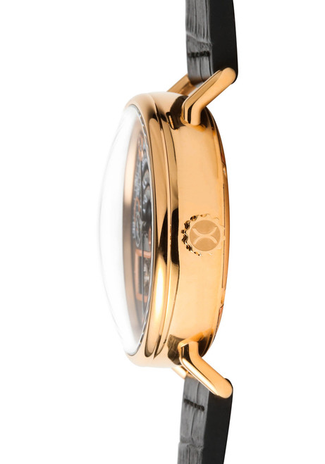 Xeric Rose Gold Halograph Automatic Limited Edition side dome