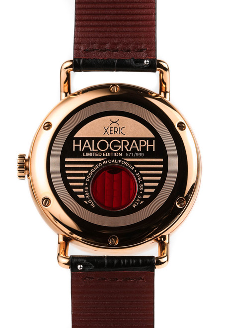 Xeric Rose Gold Halograph Automatic Limited Edition caseback