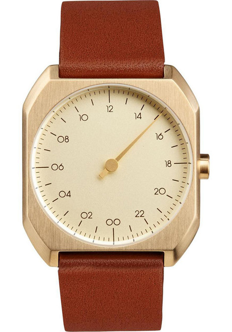 Slow Mo 07 One Hand Brown Leather Gold