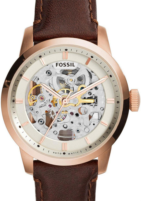 Fossil ME3078 Townsman Leather Automatic Brown/Rose Gold